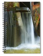 Old Mill Water Wheel Spiral Notebook