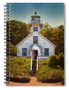 Old Mission Point Light House 02 Spiral Notebook