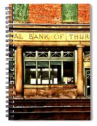 Old National Bank Of Thurmond Spiral Notebook