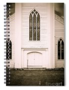 Old New England Gothic Church Spiral Notebook