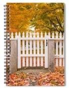 Old New England White Picket Fence Spiral Notebook