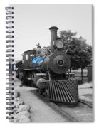 Old No. 7 Black White And Blue Spiral Notebook