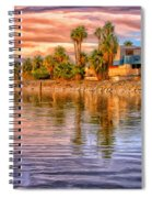 Old North Shore Yacht Club At Salton Sea Spiral Notebook