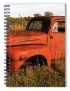 Old Orange Spiral Notebook
