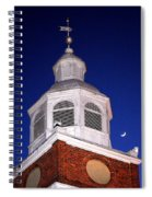 Old Otterbein Umc Moon And Bell Tower Spiral Notebook