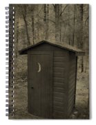 Old Outhouse Out Back Spiral Notebook