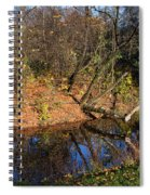 Old Park Canal In Autumn Spiral Notebook