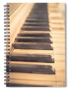Old Piano Keys Spiral Notebook