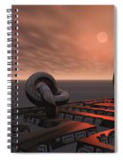Old Pier And Sculptures Spiral Notebook