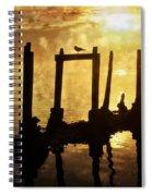 Old Pier At Sunset Spiral Notebook