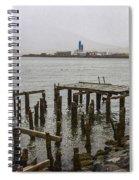 Old Pier In Siglufjordur Spiral Notebook