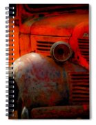 Old Plymouth Red Spiral Notebook