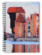 Old Port Crane In Gdansk Spiral Notebook