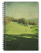 Old Postcard Of Golf Buddies At The Homestead Spiral Notebook