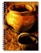 Old Pot And Ladle Spiral Notebook