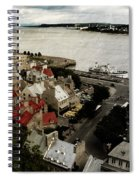Old Quebec City By St.lawrence Spiral Notebook