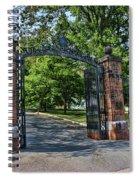 Old Queens Entrance Gate Spiral Notebook