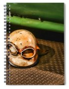 Old Racing Helmet Spiral Notebook