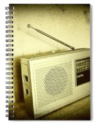 Old Radio Spiral Notebook