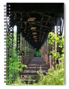 Old Railroad Car Bridge Spiral Notebook