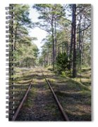 Old Railroad Tracks Spiral Notebook