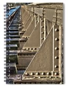 Old Railway Bridge In The Netherlands Spiral Notebook