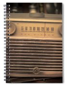 Old Rca Victor Antique Vintage Radio Spiral Notebook