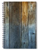 Old Reclaimed Wood - Rustic Red Painted Wall  Spiral Notebook