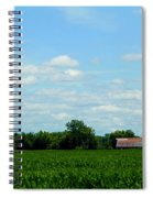 Old Red Barn And Fields Spiral Notebook