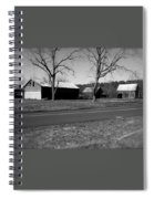 Old Red Barn In Black And White Spiral Notebook