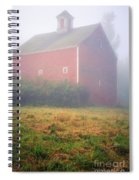 Old Red Barn In Fog Spiral Notebook