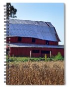 Old Red Barn Near Etowah Nc Spiral Notebook
