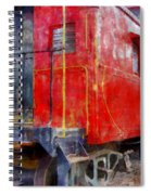 Old Red Caboose Spiral Notebook