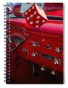 Old Red Chevy Dash Spiral Notebook