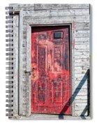 Old Red Door Spiral Notebook