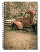 Old Red Farm Truck Spiral Notebook