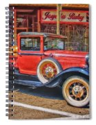Old Red Pickup Truck Spiral Notebook