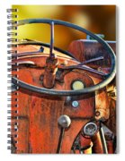 Old Red Tractor Ford 9 N Spiral Notebook