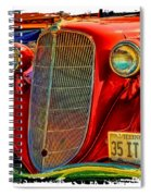 Old Red Spiral Notebook