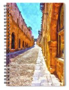 The Old Rhodes Town Spiral Notebook