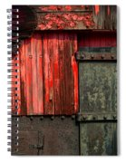 Old Rr Snow Plow  Spiral Notebook