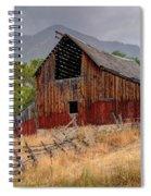 Old Rural Barn In Thunderstorm - Utah Spiral Notebook