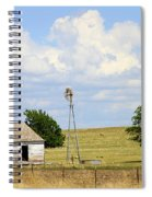 Old Rush County Farmhouse With Windmill Spiral Notebook