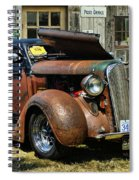 Old Rusty Car At The Old Shop  Ca5083a-14 Spiral Notebook