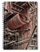 Old Rusty Pipes Spiral Notebook