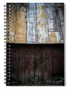 Old Rusty Tin Roof Barn Spiral Notebook