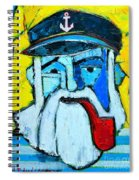 Old Sailor With Pipe Expressionist Portrait Spiral Notebook