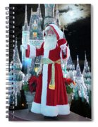 Old Saint Nick Walt Disney World Digital Art 02 Spiral Notebook