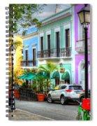 Old San Juan Street Spiral Notebook