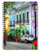 Old San Juan Street Spiral Notebook